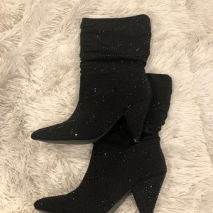 Shoes - Shimmer boots black.